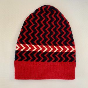 Gucci Zaggede Wool Beanie Hat in Red